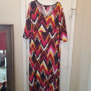 Ashley Stewart Spring Midi Dress sz 22